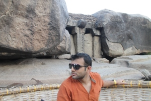 Carved temples in the boulders