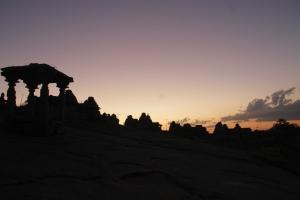 Hemakuta hill during sunset