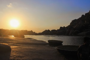 Sunset on the banks of Tungabhadra