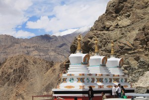 Stupas outside Thiksey